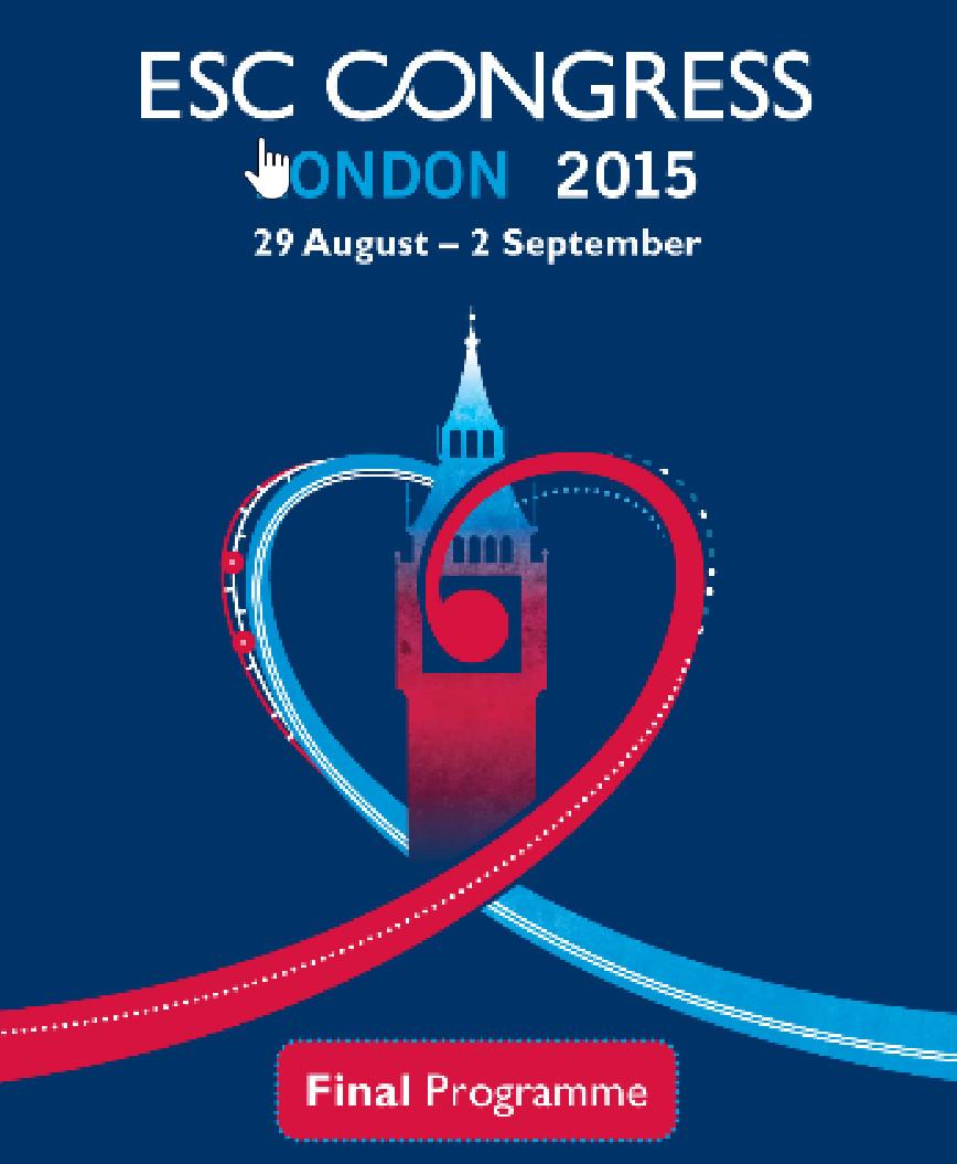 ESC Congress 2015 (29/8 - 2/9/2015, London)