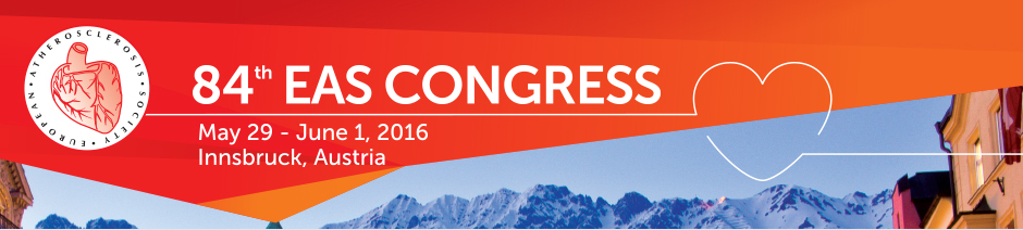 84th EAS Congress on Atherosclerosis and vascular disease (29/5-1/6/2016)
